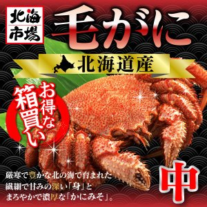 【送料無料】北海道産 毛がに4kg (440g前後×9杯)|hokkaiichibasapporo