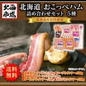 【送料無料】北海道おこっぺハム詰合せ 5種【ギフト】|hokkaiichibasapporo