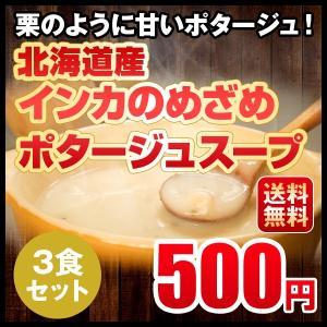 送料無料 メール便 インカのめざめポタージュ 3食セット 北海道 じゃがいも 500円ポッキリ hokkaimaru