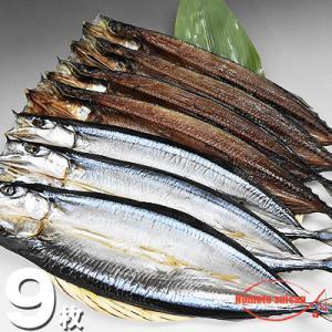 北海道産 開きさんま 大サイズ 9枚|hokkeya