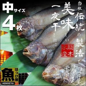 北海道(根室産)なめたがれい 一夜干し 中サイズ 4枚|hokkeya