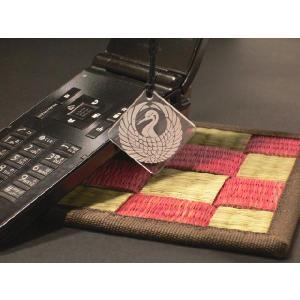 戦国武将 家紋アクリル携帯ストラップ 森蘭丸 鶴の丸|hokota
