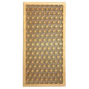 ウォールデコレーション 組子調 和風アートパネル 木製 麻の葉 シナ合板 (60cmx30cm)