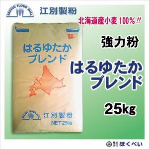 江別製粉 はるゆたかブレンド 強力粉 25kg 全国送料無料 北海道産小麦100% 業務用