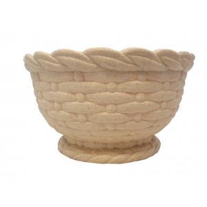 植木鉢 リッチェル 藤あみ調カップ ベージュ 24型|hokuetsunoji-shop