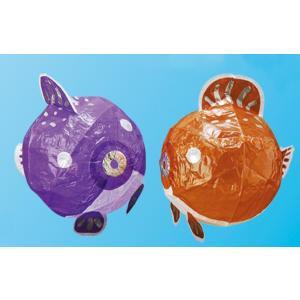 紙風船 ふぐ 2色(紫・茶)100ヶ入|hokulea