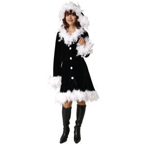 フェザーブラックドレス【クリスマス衣装・クリスマスグッズ・サンタ衣装・コスチューム】|hokulea