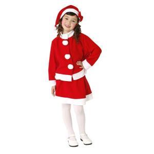 キッズツーピースサンタ 子供用 120・140サイズ【クリスマス衣装・クリスマスグッズ・サンタ衣装・コスチューム】|hokulea