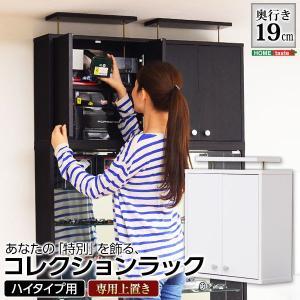 フィギュア コレクションラック 浅型ハイタイプ〔専用上置き〕|hokuo-lukit