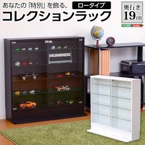 フィギュア コレクションラック 浅型ロータイプ|hokuo-lukit