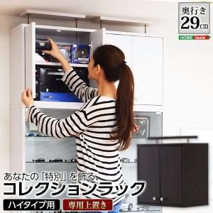 フィギュア コレクションラック 深型ハイタイプ〔専用上置き〕|hokuo-lukit