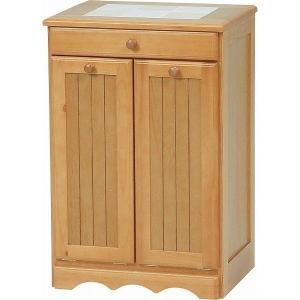 ダストボックス 木製おしゃれゴミ箱 2分別 15Lペール2個/キャスター付き ナチュラル 〔完成品〕|hokuo-lukit