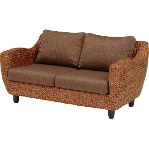 ソファー 2人掛け 肘付き 木製 ローズマリーシリーズ ブラウン|hokuo-lukit