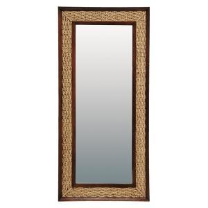 スタンドミラー アジアン家具 姿見鏡 ウォーターヒヤシンス 幅80cm 〔立てかけタイプ〕|hokuo-lukit