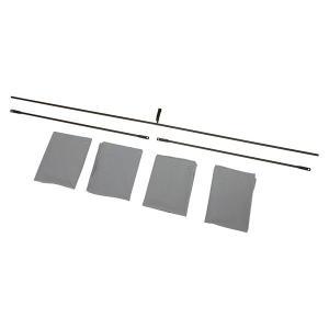 カーテン(ダークブラウン) KH-3921C-DBR ロフトベッド専用カーテン(3面) hokuo-lukit