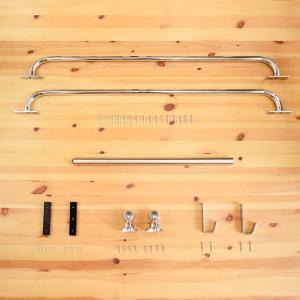 【カスタムラダー用】ロフトはしご金具フルセット 梯子 ハシゴ 階段 ベッド|hokuo-no-mori