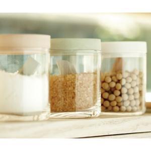 ギフト 金沢・soil フードコンテナーグラス3個セット 珪藻土 保存容器 キッチン用品 送料別