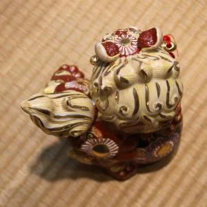 九谷焼 6号剣獅子 赤盛A|hokusando|03