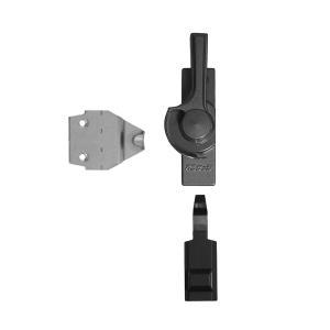 不二サッシ住宅部品 サッシ サッシ用クレセント:FUシリーズ 大型テラスタイプ(右勝手) シルバー クレセント・受け(1FU CR2371NR)|hokusei2