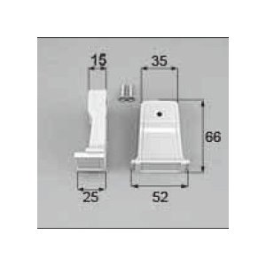 TOSTEM ドア・引戸用部品 引手 浴室中折れドア:ブラケットセット[AZWB584]|hokusei2