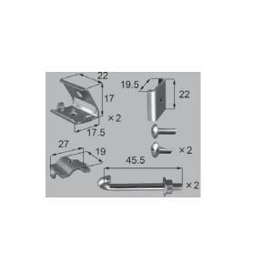 新日軽エクステリア部品 フェンス メッシュフェンス・門扉 フェンス:支柱金具セット (H:06 〜12 用 ) ブロンズ系(K8SK1341E) hokusei2