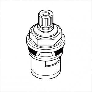 KVK水回り部品 KVK補修部品 構造部品:K550・K190GTU等用 セラミックバルブ(Z414654800)|hokusei2