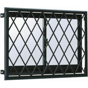 YKKAP窓まわり 面格子 ラチス面格子2LA:[幅700mm×高1050mm] YKK YKK面格子 YKKラチス面格子 防犯面格子 アルミ面格子 窓格子 壁付け格子|hokusei