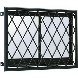 YKKAP窓まわり 面格子 ラチス面格子2LA:[幅840mm×高1050mm] YKK YKK面格子 YKKラチス面格子 防犯面格子 アルミ面格子 窓格子 壁付け格子|hokusei