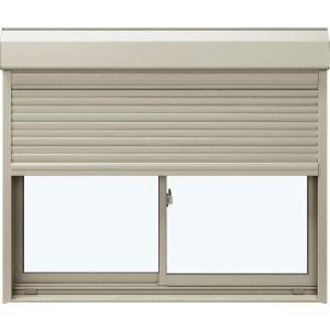 YKKAP窓サッシ 引き違い窓 エピソード[複層ガラス] 2枚建[シャッター付] スチール耐風[半外付型]:[幅1540mm×高970mm] YKK YKKアルミサッシ アルミサッ|hokusei