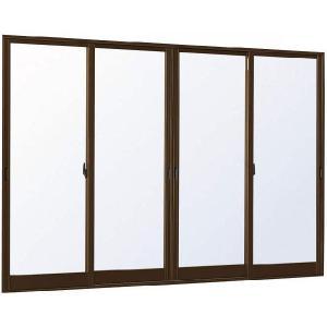 YKKAP窓サッシ 引き違い窓 エピソード[Low-E複層ガラス] 4枚建 半外付型:[幅2550mm×高1830mm] アルミサッシ 引違い窓 樹脂サッシ 断熱サッシ 断|hokusei