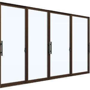 YKKAP窓サッシ 引き違い窓 エピソード[複層ガラス] 4枚建[下枠ノンレール] 大型引手[プレート無]プラットフォーム対応:[幅2550mm×高2030mm] YKK 窓サッシ|hokusei