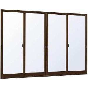 YKKAP窓サッシ 引き違い窓 エピソード[複層ガラス] 4枚建 半外付型:[幅3510mm×高2230mm] YKKアルミサッシ 引違い窓 樹脂サッシ 掃出し窓 テラス|hokusei