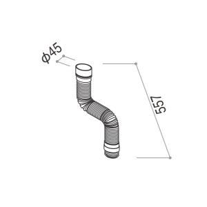 YKKAPガーデンエクステリア 汎用部品 雨樋:丸ジャバラ