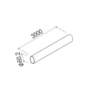 YKKAPガーデンエクステリア 汎用部品 雨樋:たて樋 Φ60用