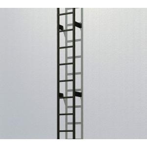 YKKAPウォールエクステリア アルミはしごエクスタラップII 本体ユニット:[幅430mm×高1400mm] YKK 壁付けはしご 梯子 ハシゴ 屋上 タラップ hokusei