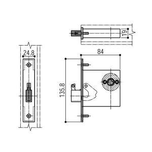 (ゆうパケット(メール便)対応)YKKAP交換用部品 主錠ケース本体(HH-4K-13859)|hokusei