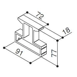 (ゆうパケット(メール便)対応)YKKAP交換用部品 引き寄せ片(HH2K-14194)|hokusei