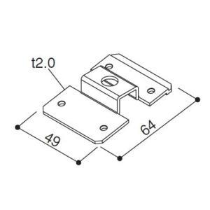 (ゆうパケット(メール便)対応)YKKAP交換用部品 連結金具(HHK1-4800)|hokusei