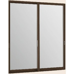 【福井県内のみ販売商品】LIXILインプラス ウッド 引き違い窓 2枚建[複層ガラス] 透明3mm+透明3mmガラス:[幅1501〜2000mm×高1901〜2450mm]|hokusei
