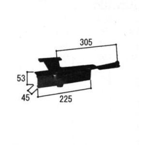 三協アルミ補修用部品 玄関ドア ドアクローザー:ドアクローザー(上かまち)[WD2913] 三協 玄関扉 ドアチェック クローザー 玄関ドア用クローザー