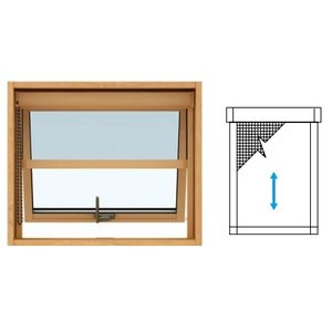 窓サッシ エピソードNEO:横引きロール網戸 装飾窓 [たてすべり出し窓用] YKKAPオプション