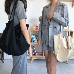 キャンバストートバッグ ショルダーバッグ 大容量 カジュアル|hokusetsu-syouten