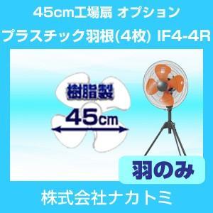 45cm工場扇 オプション プラスチック羽根(4枚 羽根) IF4-4R ナカトミ|hokusho-shouji
