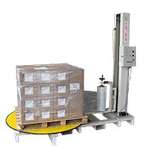 ストレッチフィルム包装機 SSP-15150-AM シグマー技研 上限下限タイマー・上昇下降スピード制限 最大荷重1500kg テーブル径φ1500mm 三相AC200 包装機|hokusho-shouji