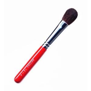 竹宝堂化粧筆(メイクブラシ) アイシャドウブラシ 12−4 赤軸 / 熊野筆|hokutoen