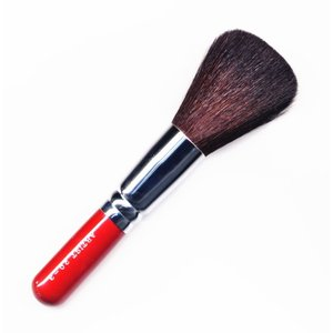 竹宝堂化粧筆(メイクブラシ) パウダーブラシ 20−3赤軸 / 熊野筆|hokutoen