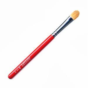 竹宝堂化粧筆(メイクブラシ) アイシャドウブラシ 8−1 赤軸 / 熊野筆|hokutoen
