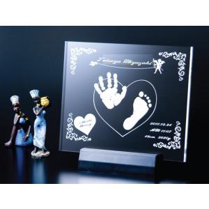 【筆まつりセール】【20%OFF】赤ちゃん手形足型メモリアル アクリルLEDライト/ho-te-17|hokutoen