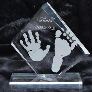 赤ちゃん手形足型メモリアル ミニプラークシャープ/ho-te-3|hokutoen
