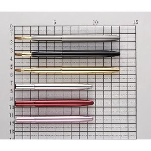 竹田ブラシ製作所 化粧筆(メイクブラシ) リップブラシ No.07S100 / 熊野筆 イタチ毛100% 平筆|hokutoen